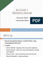 Sistem Linier Lecture 1