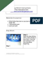 Drop Stitch Instructions