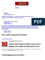 how coffee conquered the world -- new internationalist