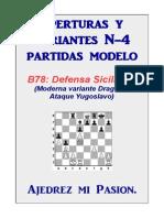 Defensa Siciliana Partidas Modelo