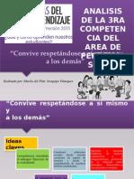 Analisis de La Competencia 3 de Personal social