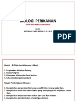 BIOLOGI PERIKANAN - Kuliah 2 Tingkah Laku Ikan (Kebiasaan Makan + Migrasi).pdf