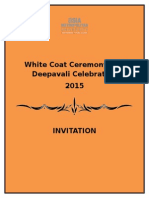 White Coat Ceremony and Deepavali Celebration