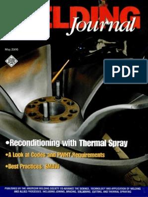 Welding Journal May 2006 | Welding | Corrosion