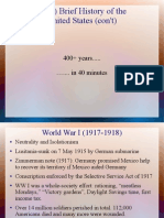 brief history of the us post ww i