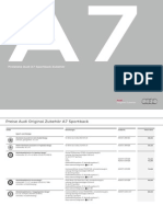 Audi A7 Price List (Germany, 2015)