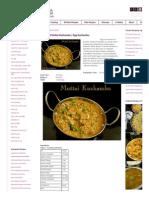Chettinad Muttai Kuzhambu | Egg Kuzhambu |Nithya's Nalabagam
