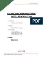 Proyecto de Elaboracion de Botellas de Plastico - Procesos III 20509