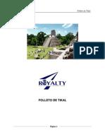 Folleto de Tikal