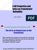 Impact of Oil Parameters on Reliability