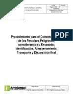 (Concepto 04) Procedimiento Para El Correcto Manejo de Los Residuos Peligrosos
