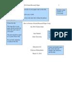 Apa Formal Research Paper