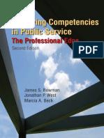 James S. Bowman, Jonathon P. West, Marcia a. Beck-Achieving Competencies in Public Service_ the Professional Edge, 2nd Edition -M.E.sharpe (2009)