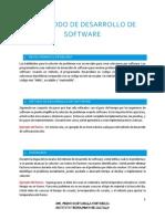 El Metodo de Desarrollo de Software