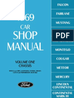 1969 Ford Car Shop Manual Volume One Chassis