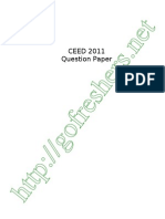CEED 2011 Exam Question Paper Download