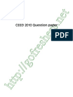 CEED 2010 Exam Question Paper pdf Download