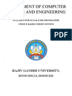 RGU M.Tech (CSE) syllabus