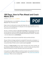 100 Days_ How to Plan Ahead and Crack Mains 2015 - ForumIAS•Home