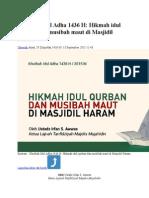 Khutbah Idul Adha 1436 H