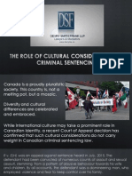 The Role of Cultural Considerations in Criminal Sentencing