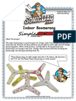 Project 0001 Indoor Boomerang Simplesonic 12514