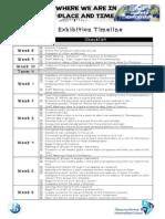 2015 exhibition timeline