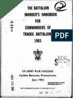 THE BATTALION COMMANDER'S HANDBOOK FOR COMMANDERS OF TRADOC BATTALIONS