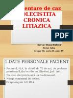 Prezentare Caz Colecistita Cronica