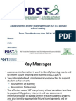 assessment and ict workshop one primary - pdst techineddmmmfsg pptx pptx