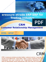 eresource etrade ERP | eresource For Trading Business | CRM Module