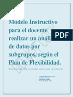 Modelo Instructivo Para El Docente Realizar Un Análisis de Datos, Editado