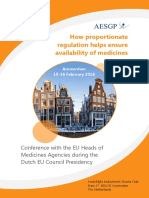 AESGP Conference with the EU Heads of Medicines Agencies 15-16 February 2016