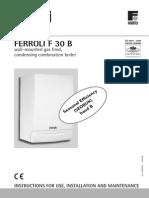 Ferroli F30 B Manual