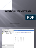 Window en Matlab