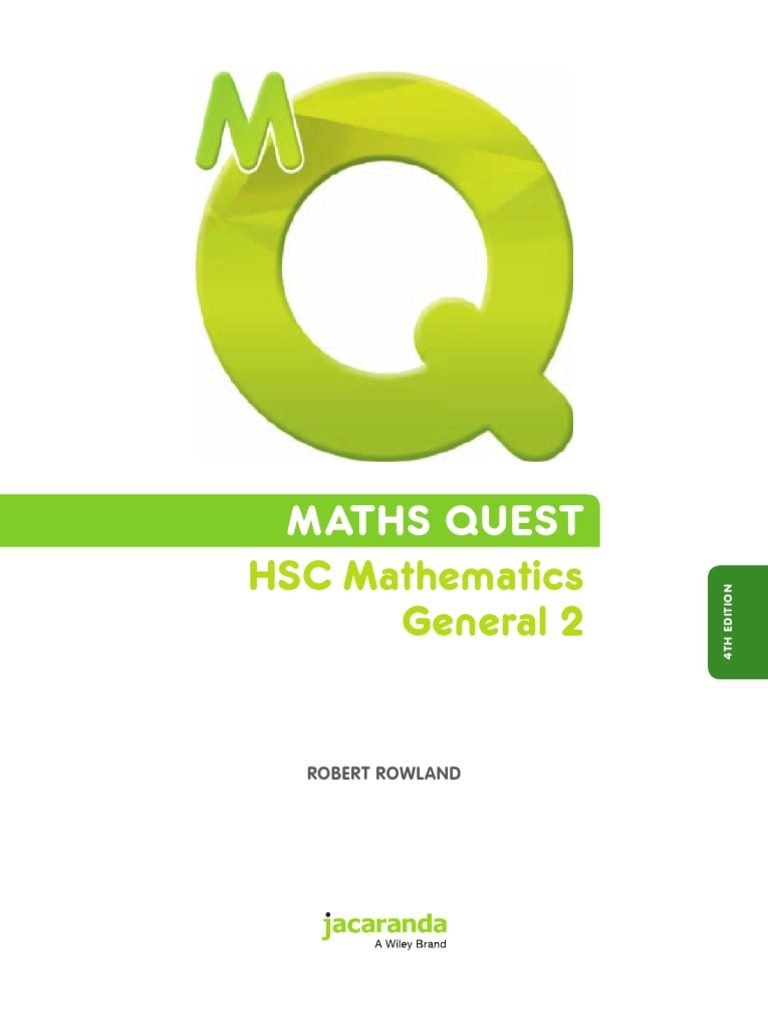 Maths quest hsc mathematics general 2 4th edition interest loans fandeluxe Images