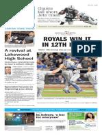 Asbury Park Press front page Monday, Nov. 2 2015