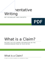 argumentative writing - hmh summary pages