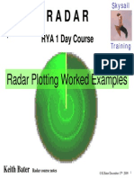 Radar Plotting Worked Examples Exercises