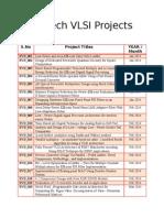 BTech & MTech VLSI PBTech & MTech VLSI Projectsrojects