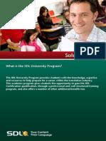 SDL2011 Academic Solution Brief
