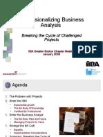 Professionalizing Business Analysis