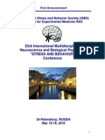 267335029 23rd International Neuroscience and Biological Psychiatry Conference STRESS and BEHAVIOR May 16-19-2016 St Petersburg Russia