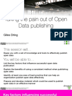 Taking the Pain Out of Open Data Publishing with Giles Dring