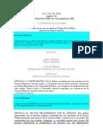 Codigo Penal Militar Ley 522 de 1999