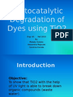 Photocatalytic Degradation of Dyes Using TiO2