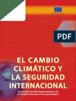el cambio climatico y la seguridad internacional
