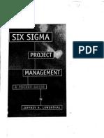 Six Sigma Project Management - LOWENTHAL, Jeffrey N. (ASQ Quality Press, 2002)