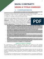 Schemi Concettuali Singoli Contratti Tipici - Istituzioni Di Diritto Privato II