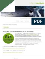 + Ciencia Andalucía 9 de octubre de 2015
